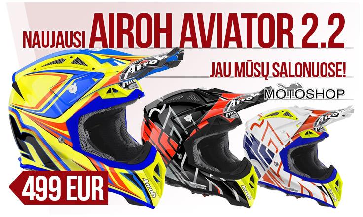 Naujausi Airoh Aviator 2.2