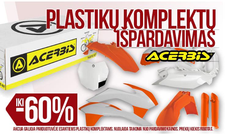 Acerbis plastikai iki -60%